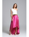 SATIN ASSYMETRICAL SKIRT