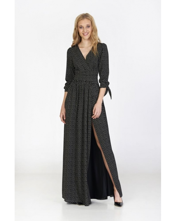 LONG DRESS MADE IN CREPE LONG SLEEVE
