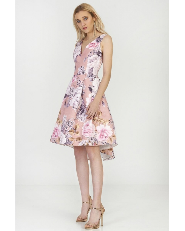 MIDI DRESS IN JACQUARD